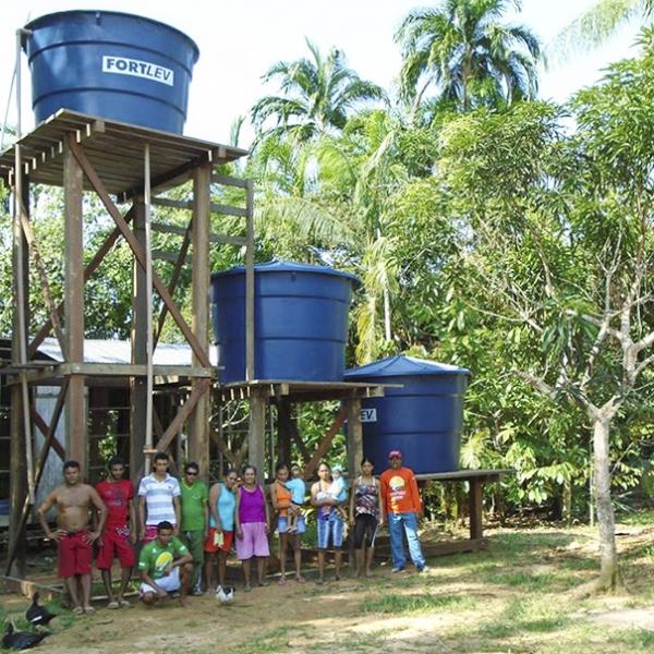 Tecnologia social leva água potável e saneamento a comunidades no interior da Amazônia